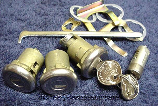 Door Trunk Glove Locks Buick Special Skylark 1964